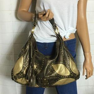 Isabella Fiore gold/bronze hobo bag